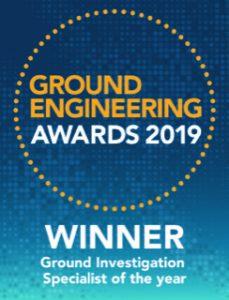 Ground Engineering 2019 Logo - Winner - Ground Investigation Specialist of the Year